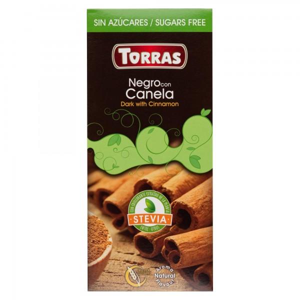 Torras Stevia Dark Chocolate With Cinnamon Bar 125G 505124-V001 by Torras