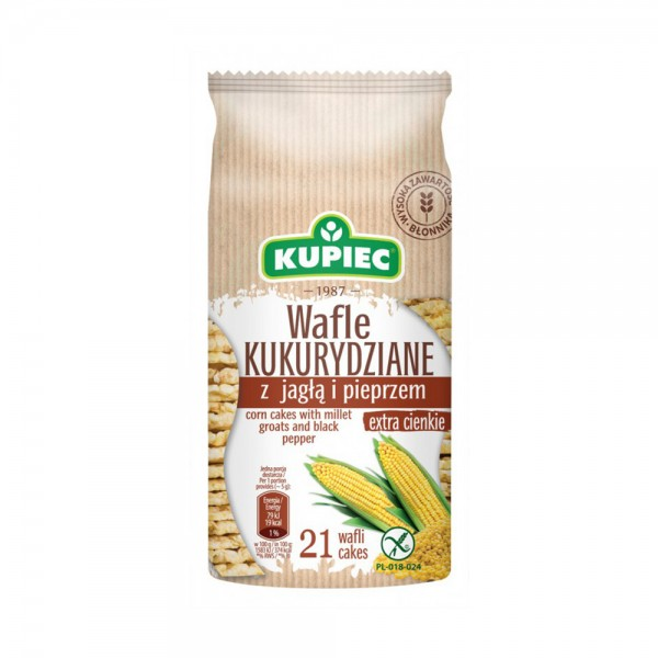 KUPIEC Corn Cakes With Millet Groats And Black Papper 105G 505889-V001 by Kupiec