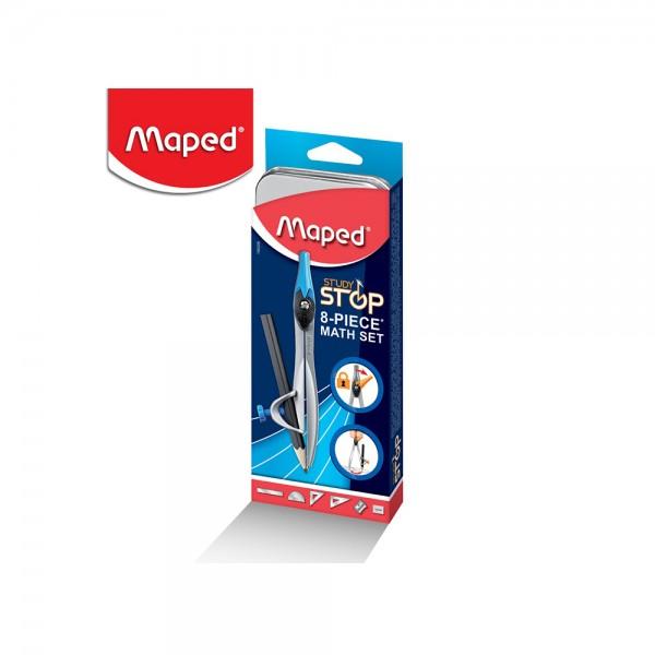 Maped Math Set Study Stop 8PC 506620-V001 by Maped