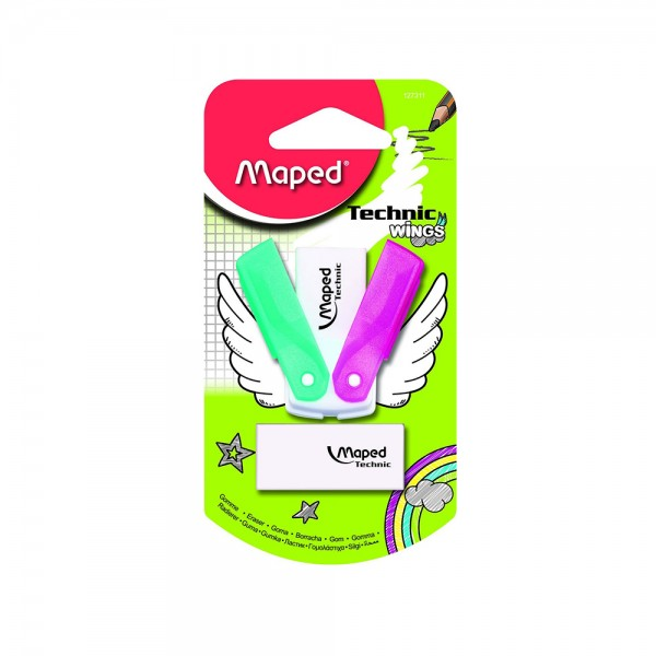 Maped Eraser Wings + Refillable Blistr 1PC 506693-V001 by Maped