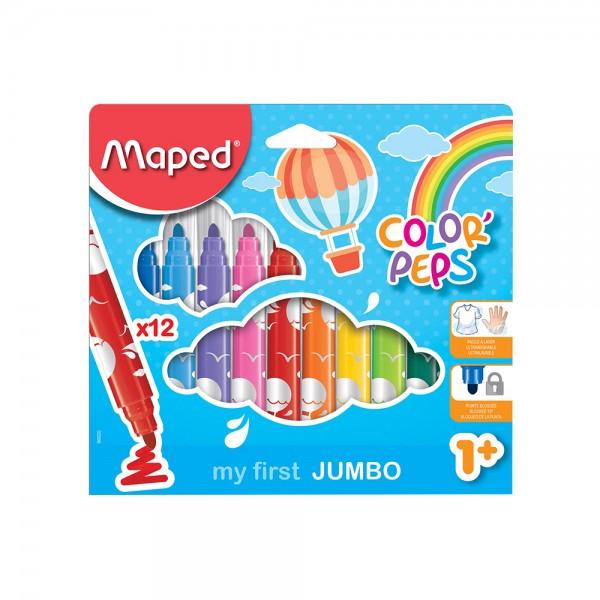 Maped Color Peps Felt Maxi 12Col CBX 1PC 506747-V001 by Maped