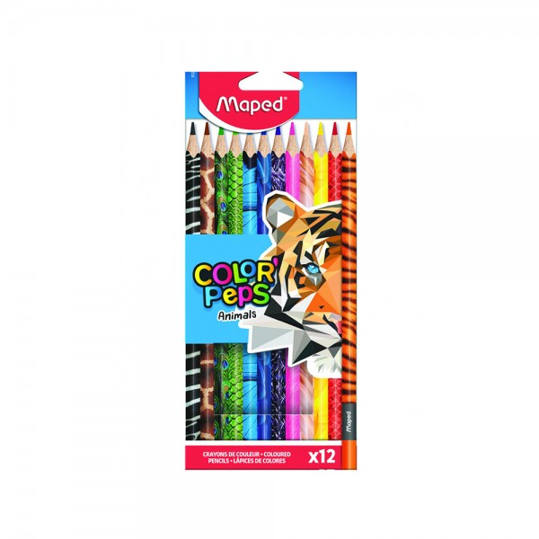 Maped Color Peps Pencil Animal 12Col 1PC 506776-V001 by Maped