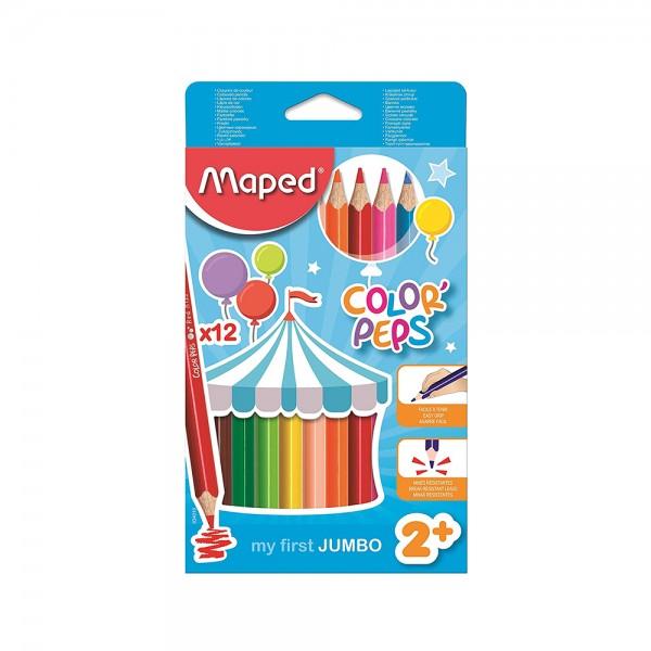 Maped Color Peps Jumbo 12Col Set 506779-V001 by Maped
