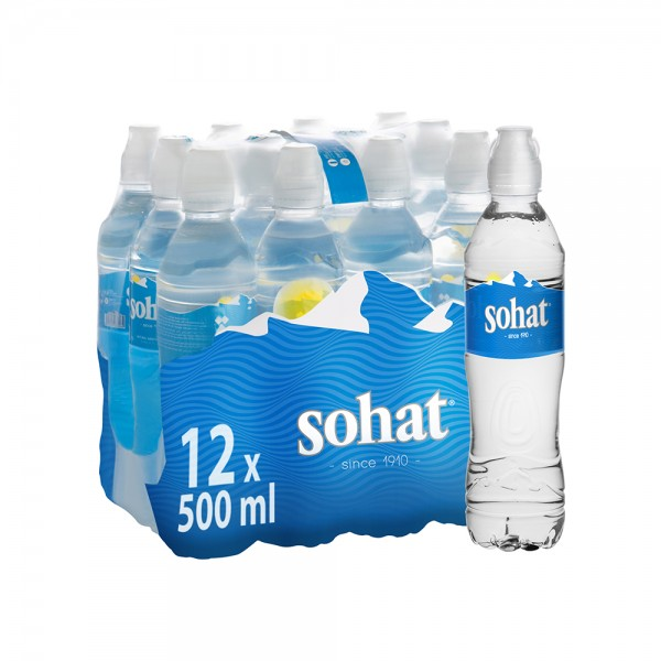 Sohat Mineral Water Pet Sport Cap 12x500ml 506821-V001 by Sohat