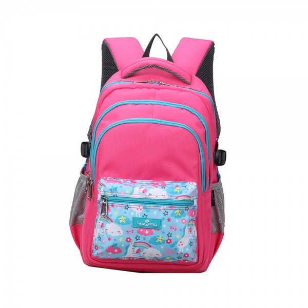 Faber C School Bag Red Turquoise Unicorn 507156-V001 by Faber Castell