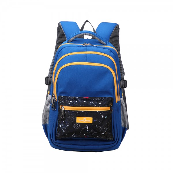 Faber C School Bag Blue Orange Spaces 507171-V001 by Faber Castell