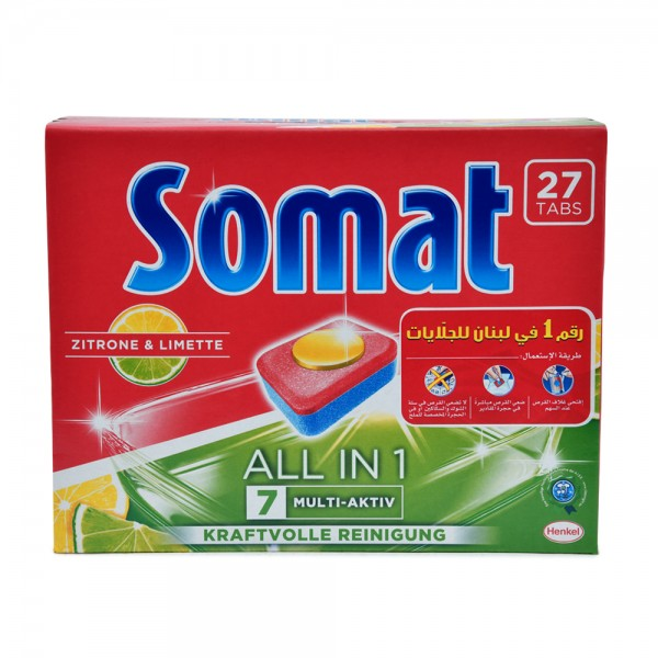 Somat All in One Lemon 27 Tabs 510276-V001 by Somat