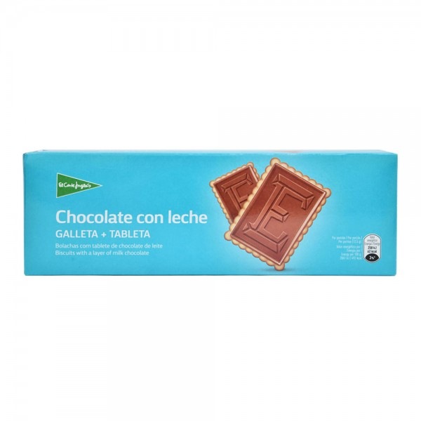 El Corte Ingles Biscuits With A Layer Of Milk Chocolate Case 150G 510341-V001 by El Corte