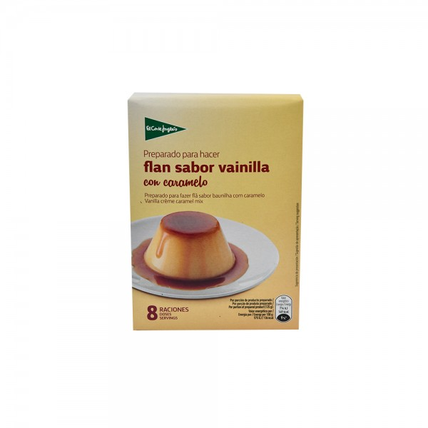 EL CORTE INGLES Vanilla Flavored Crème Caramel With Caramel Mix 8 Portions Case 130G 510368-V001 by El Corte