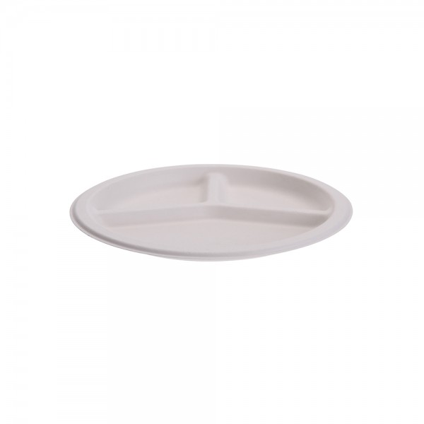 Eh Compart.Plate Bagasse Dispos. 513447-V001 by EH Excellent Houseware
