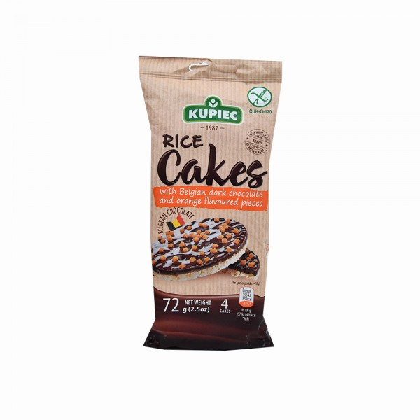KUPIEC Rice Cakes With Belgian Dark Chocolate & Orange 72G 514679-V001 by Kupiec