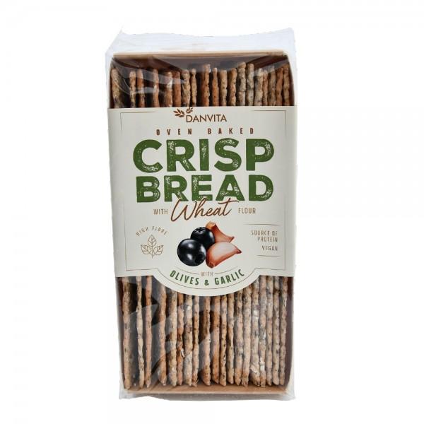 Danvita Olive and Garlic Wheat Crisp Bread 130G 514934-V001 by Danvita