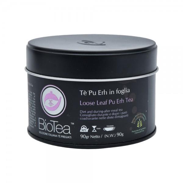 BioTea Loose Leaf Black Puerh Tea Tin Can 90G 515280-V001 by Biotea Tè Pregiati