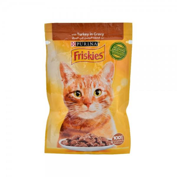 PURINA Friskies With Turkey In Gravy Wet Cat Food 85G 515362-V001 by Purina