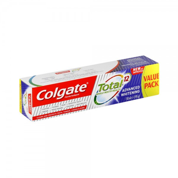 Colgate Total 12 Advanced Whitening Toothpaste 150ML 515804-V001 by Colgate