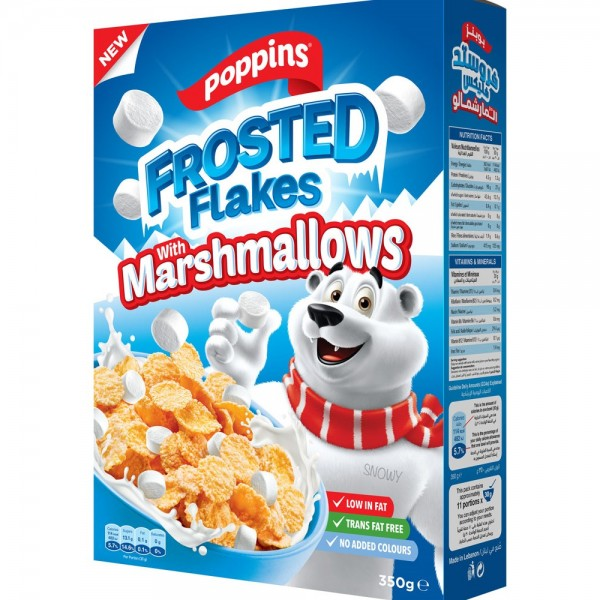 Poppins Frosted Flakes With Marshmallows 350G 516052-V001 by Poppins
