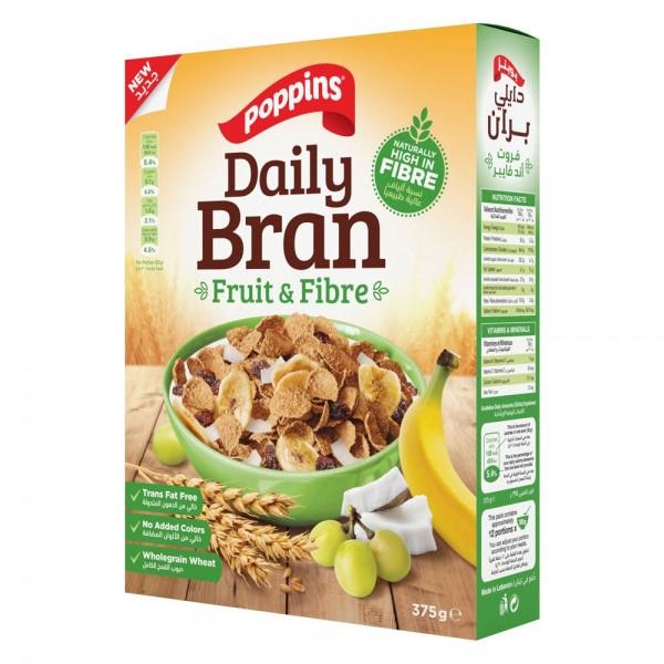 Poppins Daily Bran Fruits & Fibre 375G 516055-V001 by Poppins