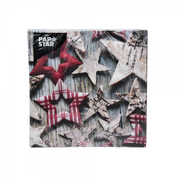 Pap Star Napkins Wooden Stars - 33Cm 516366-V001 by Pap Star
