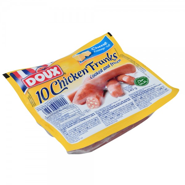 Doux Chicken Franks Cheese - 340G 517416-V001 by Doux
