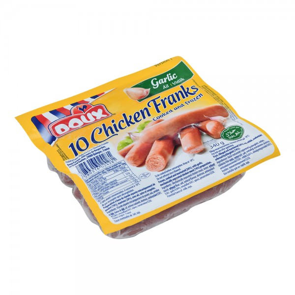 Doux Chicken Franks Garlic - 340G 517421-V001 by Doux