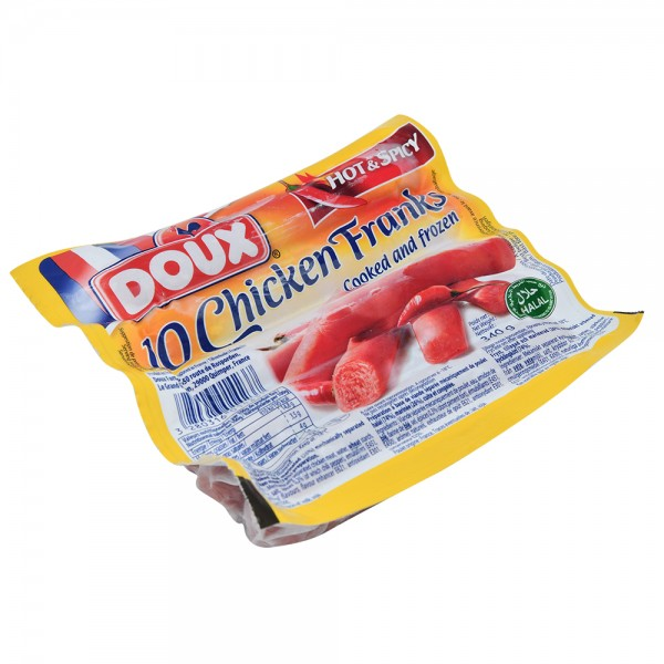 Doux Chicken Franks Hot+Spicy - 340G 517422-V001 by Doux