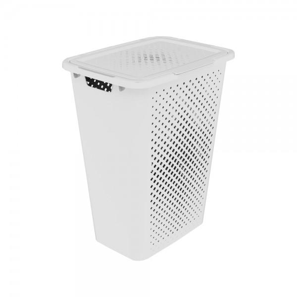 sundis Pixel Laundry Hamper With Lid White Color 50L 518280-V001 by Sundis