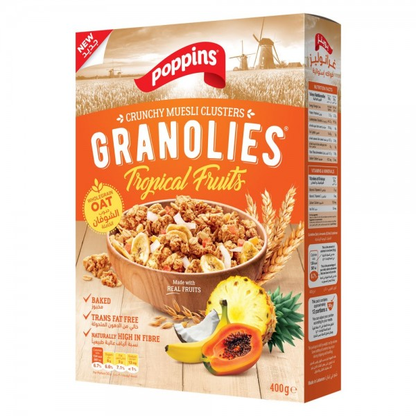 Poppins Granolies Tropical Fruits 400g 518684-V001 by Poppins