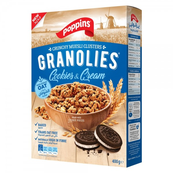 Poppins Granolies Cookies & Cream 400g 518687-V001 by Poppins