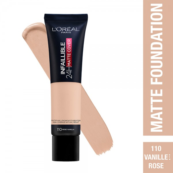 L'Oréal Paris- Infaillible 24H Matte Cover Foundation- 110 Rose Vanilla 519036-V001 by L'oreal