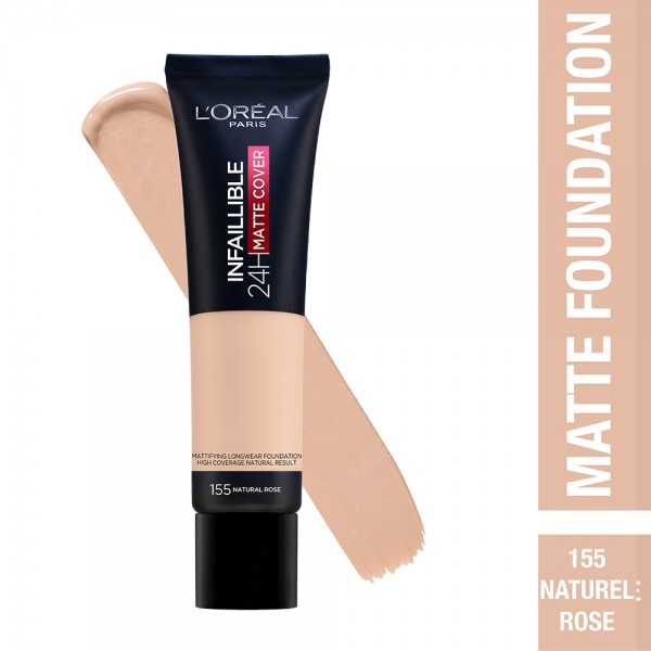 L'Oréal Paris- Infaillible 24H Matte Cover Foundation- 155 Natural Rose 519037-V001 by L'oreal