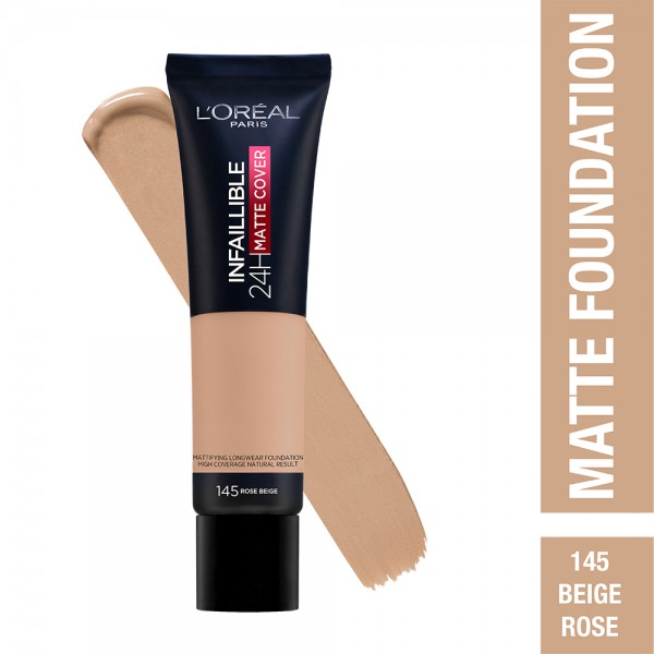 L'Oréal Paris- Infaillible 24H Matte Cover Foundation- 145 Rose Beige 519038-V001 by L'oreal