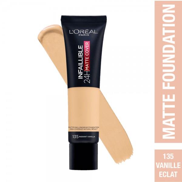 L'Oréal Paris- Infaillible 24H Matte Cover Foundation- 135 Radiant Vanilla 519039-V001 by L'oreal