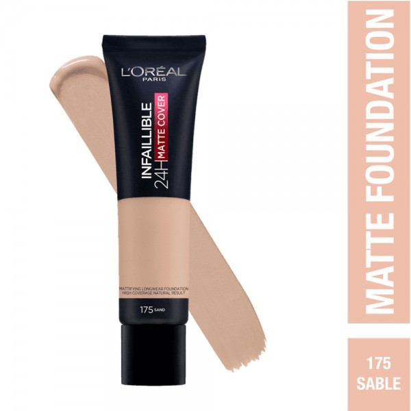 L'Oréal Paris- Infaillible 24H Matte Cover Foundation- 175 Sand 519040-V001 by L'oreal