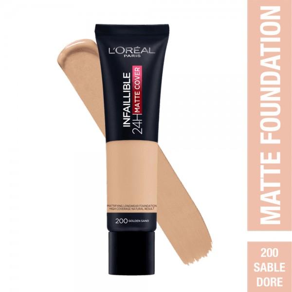 L'Oréal Paris- Infaillible 24H Matte Cover Foundation- 200  Golden Sand 519041-V001 by L'oreal