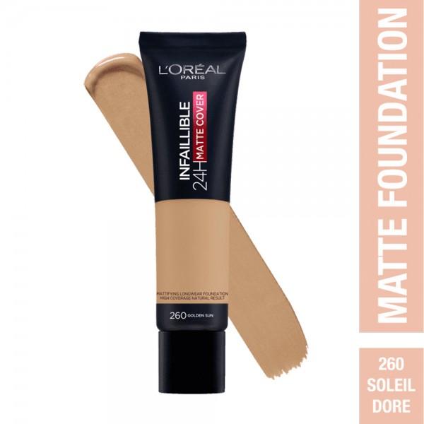 L'Oréal Paris- Infaillible 24H Matte Cover Foundation- 260 Golden Sun 519044-V001 by L'oreal