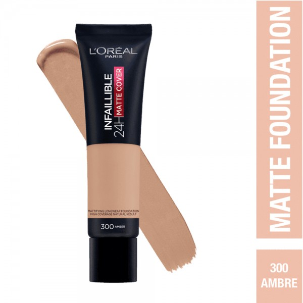 L'Oréal Paris- Infaillible 24H Matte Cover Foundation- 300 Amber 519045-V001 by L'oreal