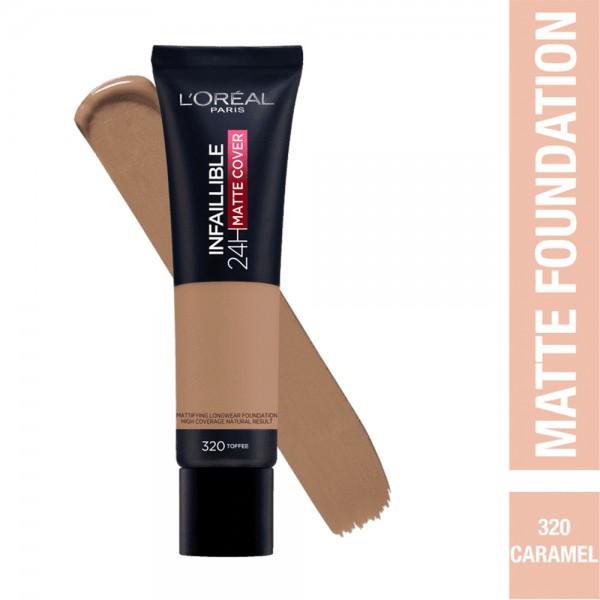 L'Oréal Paris- Infaillible 24H Matte Cover Foundation- 320 Toffee 519046-V001 by L'oreal