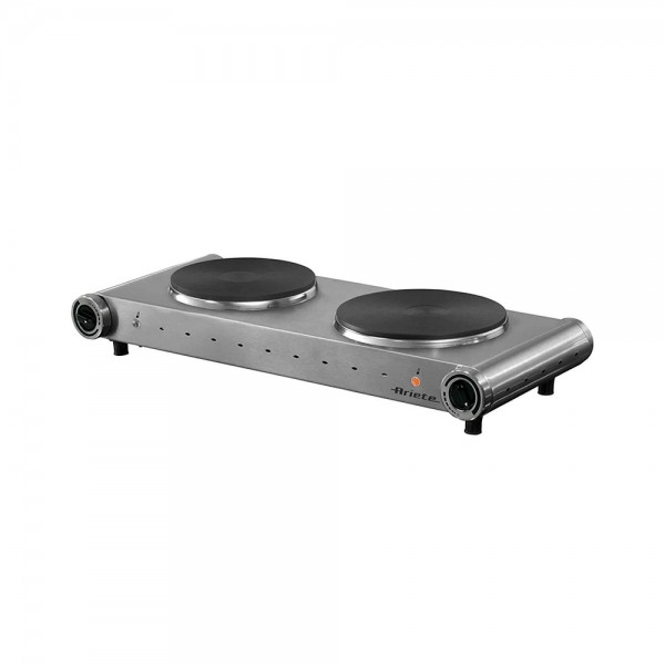 Ariete Hot Plate Double Stainless - 2500W 519540-V001 by Ariete