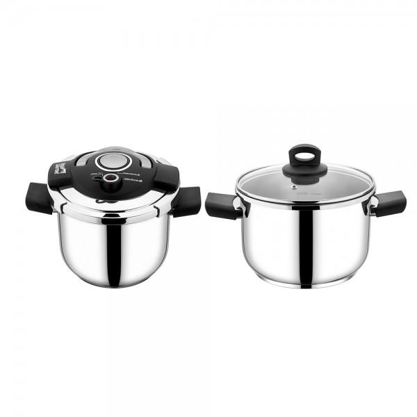R.Gourmet Prestige Pressure Cooker 7L+5L - 2Pc 519591-V001 by Royal Gourmet Corporation