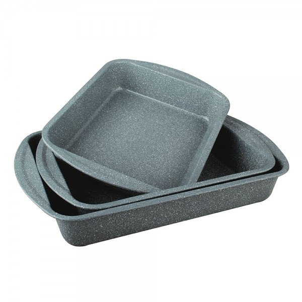 R.Gourmet, Rectangular Granite Tray set, 3Pcs 519592-V001 by Royal Gourmet Corporation