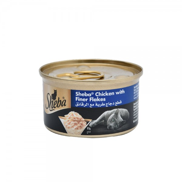 Sheba Chicken With Finer Flakes Wet Cat Food 85G 520008-V001 by Sheba