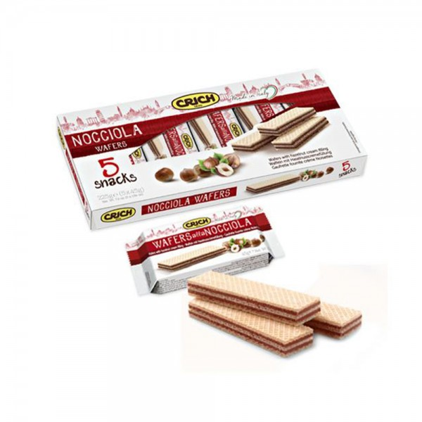 Crich Wafer Sticks Hazelnut Cream Filling 225g 520196-V001 by Crich