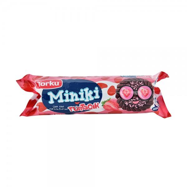 Torku, Strawberry Coated Biscuits, 94G 520459-V001 by Torku