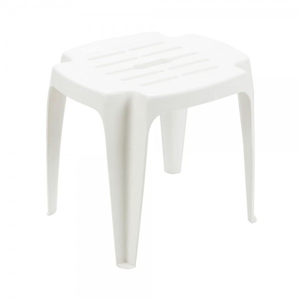 CALYPSO STACKABLE STOOL WHITE 520495-V001 by Pro Garden Collection