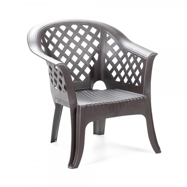 LARIO STACKABLE ARM CHAIR ANTHRACITE 520534-V001 by Pro Garden Collection