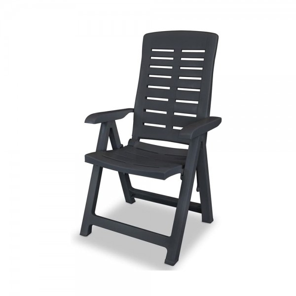 YUMA FOLDING CHAIR ANTHRACITE 520610-V001 by Pro Garden Collection