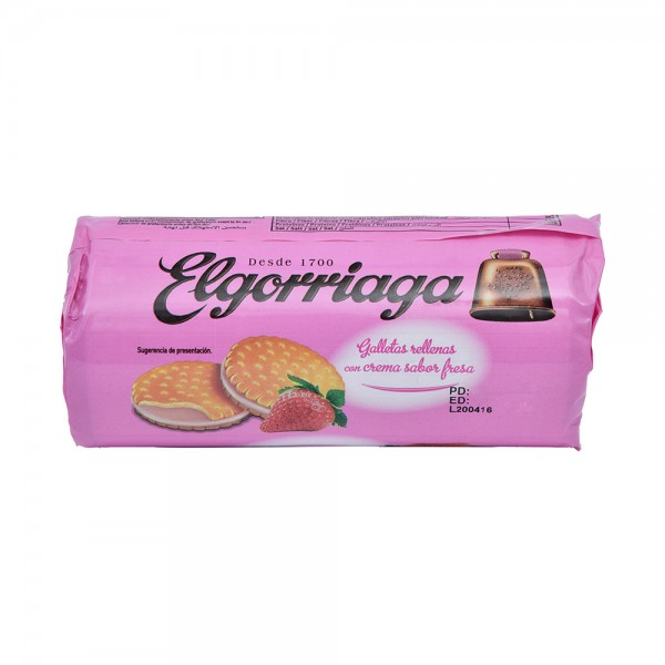 Elgorriaga Strawberry Flavored Filled Biscuit - 150G 520737-V001 by Elgorriaga