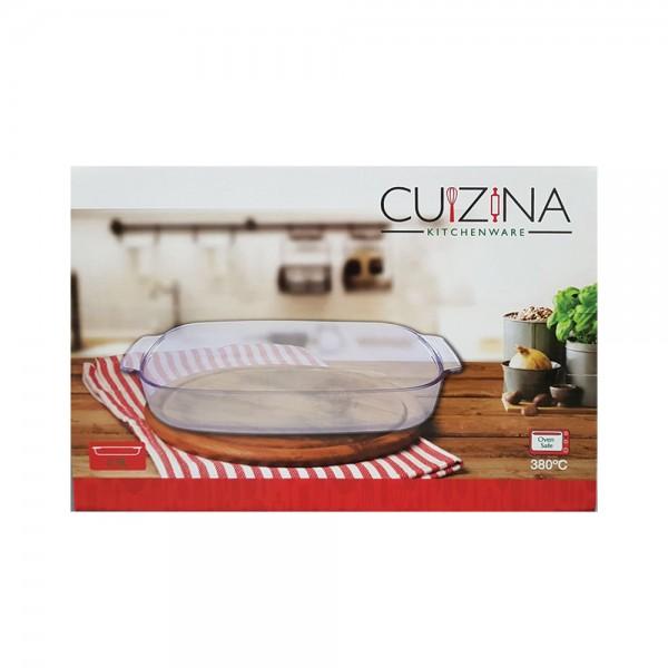 BORO GLASS RECTANGULAR BAKING DISH DOTTED HANDLE 521426-V001 by Cuizina Kitchenware