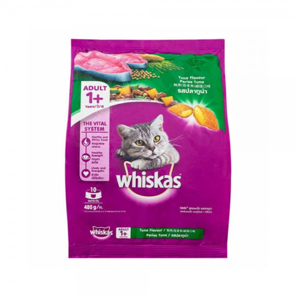 WHISKAS Dry Cat Food With Real Tuna 480G 521556-V001 by Whiskas