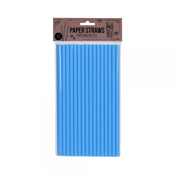 PAPER STRAWS 6 ASSORTED COLORS 521615-V001 by EH Excellent Houseware
